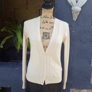 TSE cream cashmere cardigan.